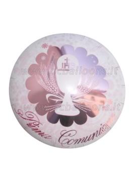 Palloncini Comunione Mylar rosa