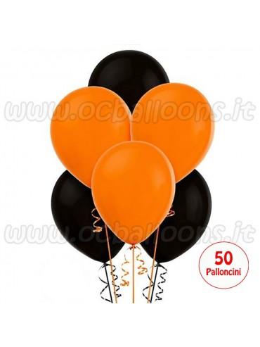 Palloncini Assortiti Nero & Arancio 50pz