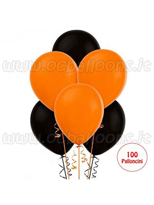 Palloncini Assortiti Nero & Arancio 100pz
