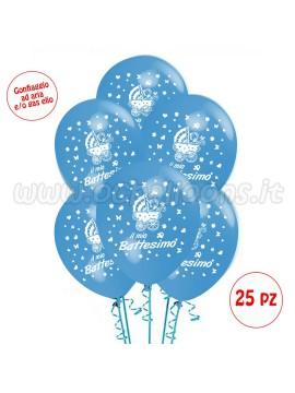 Palloncini Il Mio Battesimo 20 pz azzurro