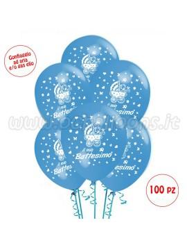 Palloncini Il Mio Battesimo 50 pz azzurro