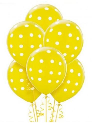 Palloncini Pois Gialli 50 pz