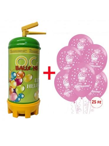 bombola elio per palloncini battesimo bambina