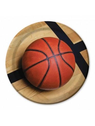 Piatti basket - piatto festa a tema pallacanestro - compleanno basket