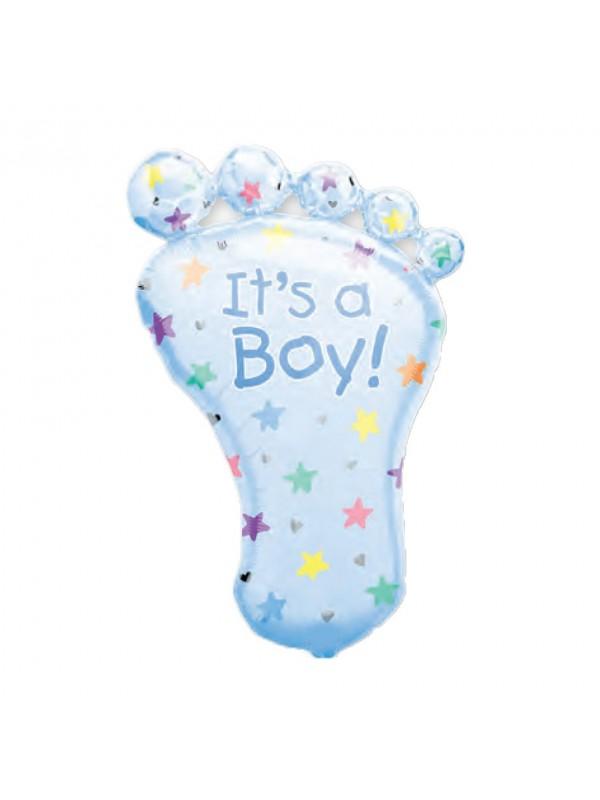 Palloncino nascita bimbo piede azzurro
