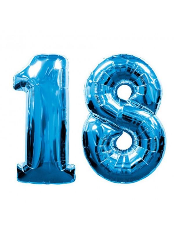 Palloncini 18 anni numero blu