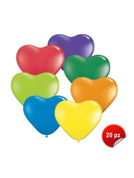 Palloncini Cuore Assotiti  20pz