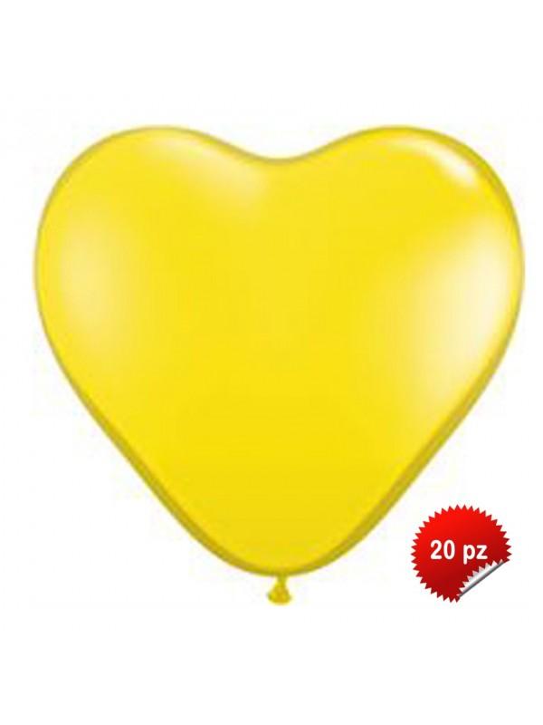 Palloncini Cuore Gialli 20pz