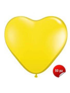 Palloncini Cuore Gialli 50pz