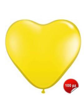 Palloncini Cuore Gialli 100pz