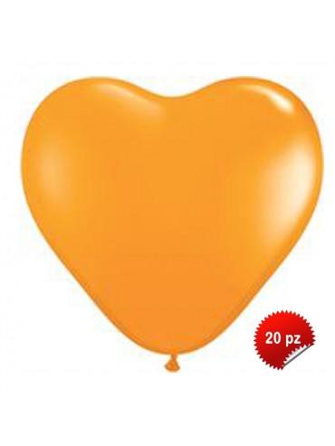 Palloncini Cuore Arancio 20pz