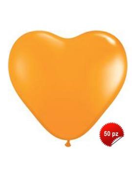 Palloncini Cuore Arancio 50pz