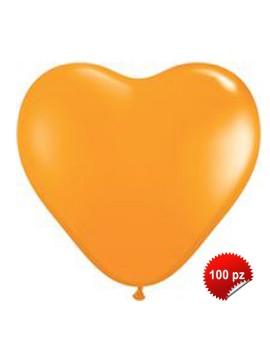 Palloncini Cuore Arancio 100pz
