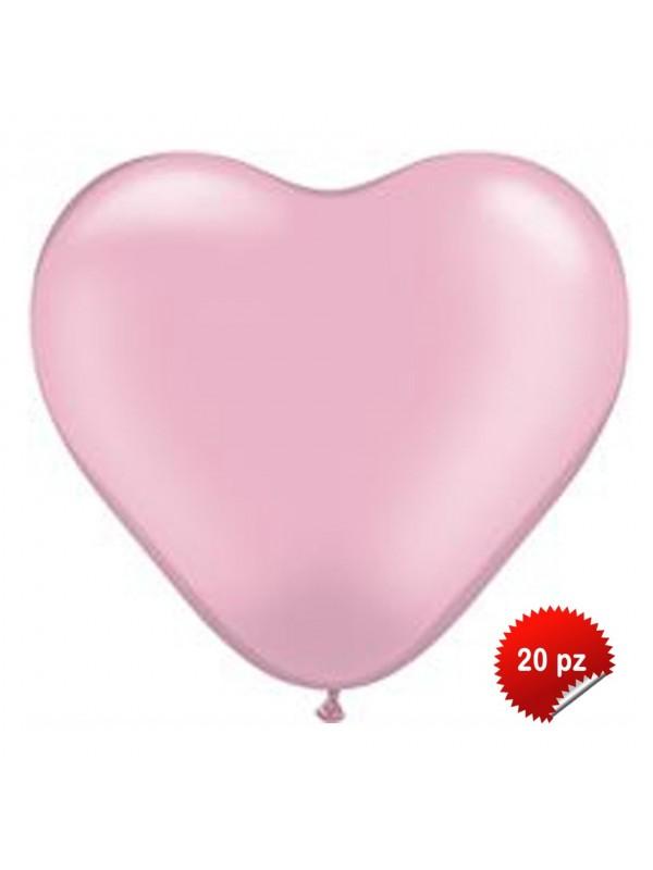 Palloncini Cuore Rosa 20pz
