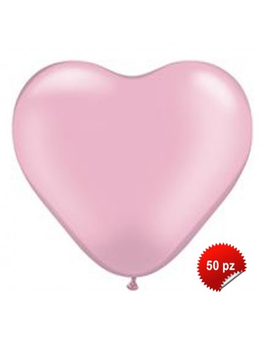 Palloncini Cuore Rosa 50pz