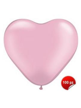 Palloncini Cuore Rosa 100pz