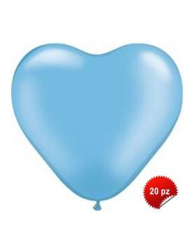 Palloncini Cuore Azzurri 20pz