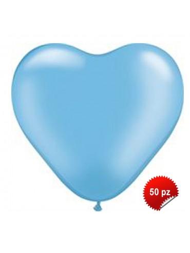 Palloncini Cuore Azzurri 50pz