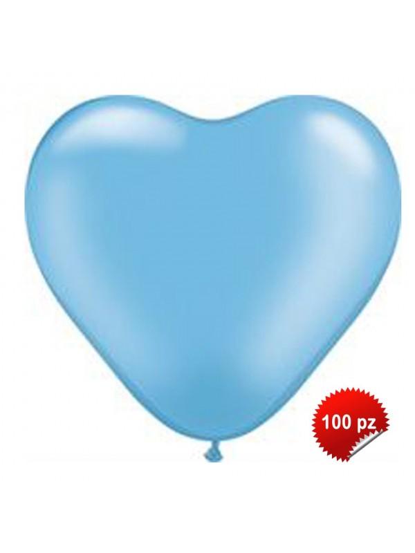 Palloncini Cuore Azzurri 100pz