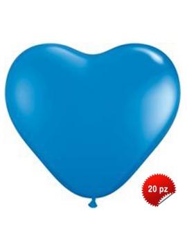 Palloncini Cuore Blu 20pz