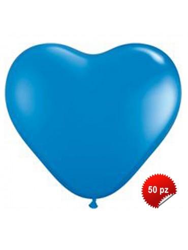 Palloncini Cuore Blu 50pz