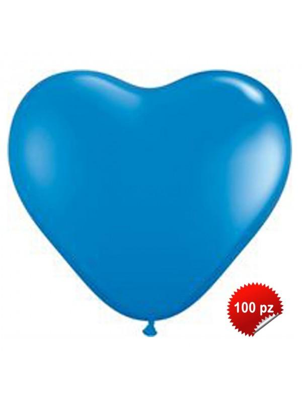 Palloncini Cuore Blu 100pz