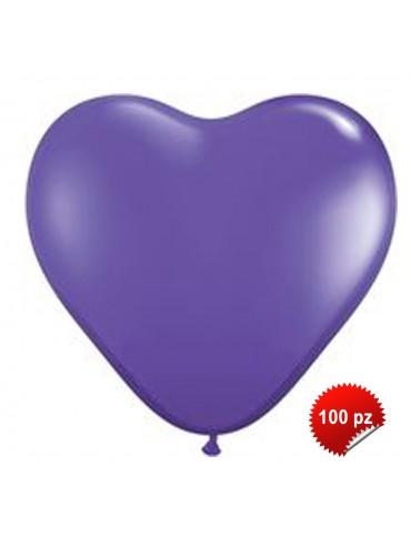 Palloncini Cuore Viola 50pz