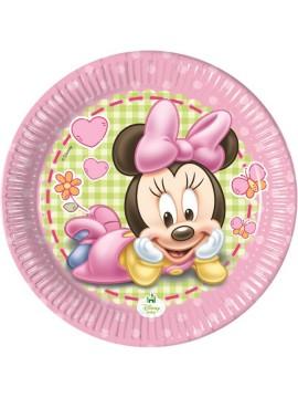 Piatti Minnie Baby 20 cm 8pz