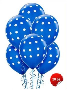 Palloncini Pois Blu 20 pz