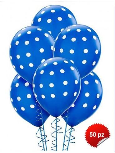 Palloncini Pois Blu 50 pz